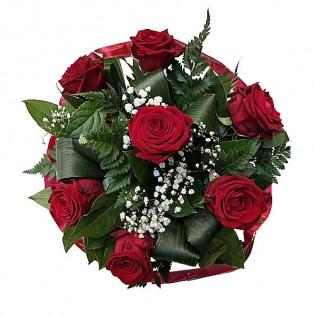 Bukiet Róże z kryzą