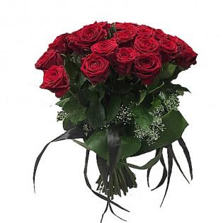 Bukiet 25 Róż z dekoracją