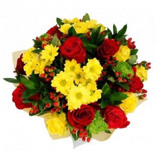 Bukiet Róże i Margaretki
