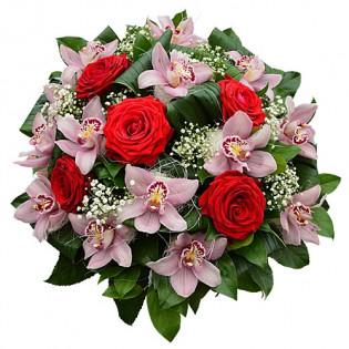 Bukiet Storczyki z Różami