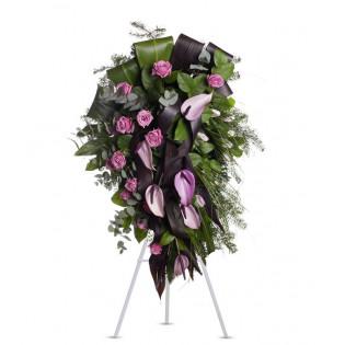 Wiązanka Pogrzebowa Fiolet