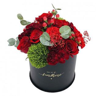 Flower Box róże i goździki