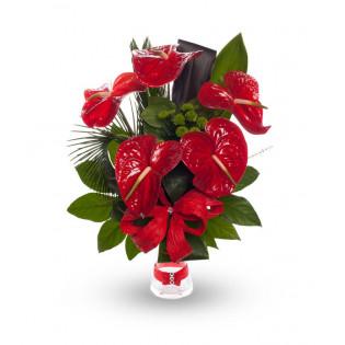 Bukiet 7 Róż Wystopniowanych