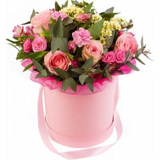Kwiaty mieszane róż-amarnt...