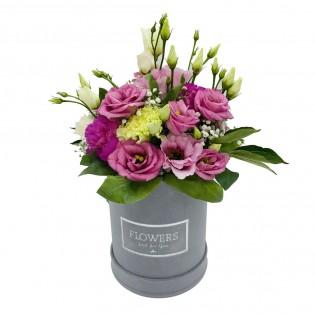 Box eustomy różowe