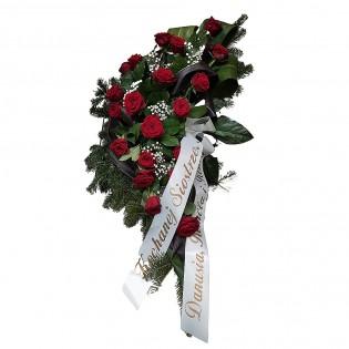Wiązanka róże bordowe