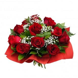 Roże z kryzą czerwoną