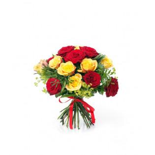 Bukiet 15 Róż Dwukolorowych