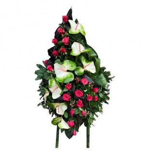 Wieniec anturium z różą
