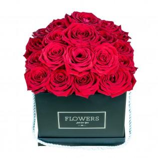 Róże w pudełku czarnym...